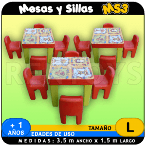 Mesas y Sillas MS3