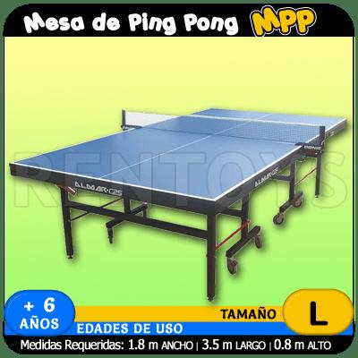 Alquiler de mesa de ping pong rentoys alquiler y venta de juegos - Mesa de ping pong precio ...